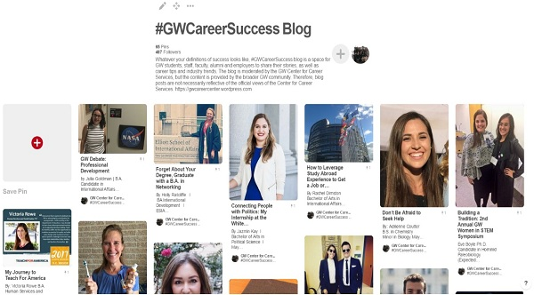 GW Career Success Blog on Pinterest image