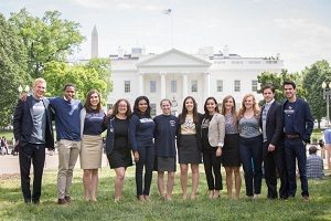 GW interns at the White House image