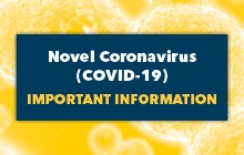 promotional image about the university's response to COVID-19