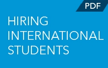 Hiring International Students promo
