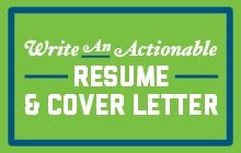 Write an Actionable Resume & Cover Letter promo image