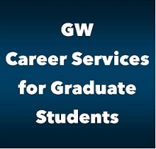 promotional image about the university's career services for graduate students