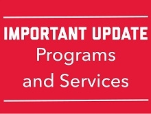 promotional image regarding important updates for programs and services at the Center for Career Services