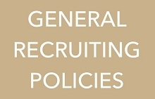 General Recruiting Policies promo
