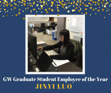 image of Jinyi Luo GW Graduate Student Employee of the Year