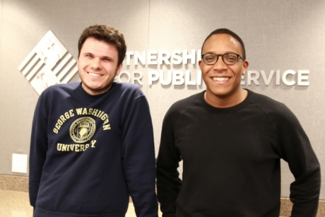 image of Peter Kamocsai & Brandon Lardy from GW Today How I Got the Job: Shining a Light on Achievements in Public Service