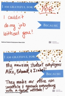 Words of Gratitude to and from GW Student Employees